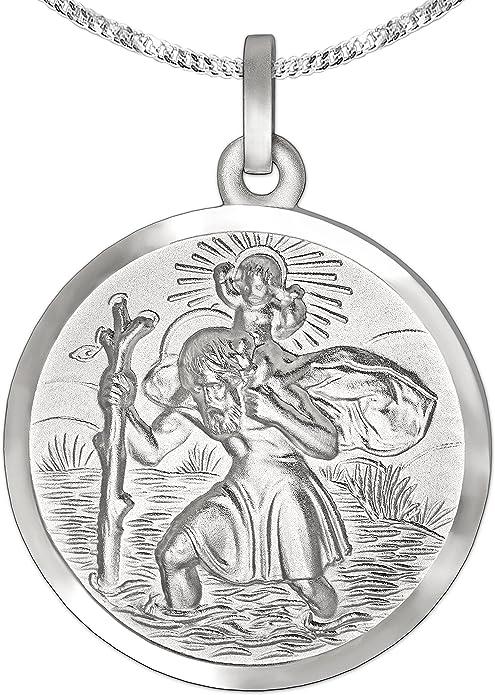 Anhänger Christopherus auf Wunsch mit Kette Echtschmuck 925 Sterling Silber