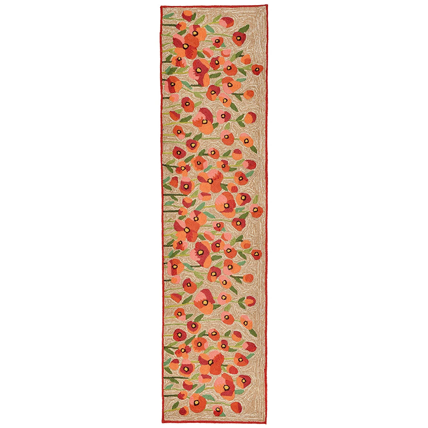 Liora Manne RV0R8A55924 Torello Dancing Flowers Rug, Runner, Red, 24x8' 24x8' The Trans Ocean Group