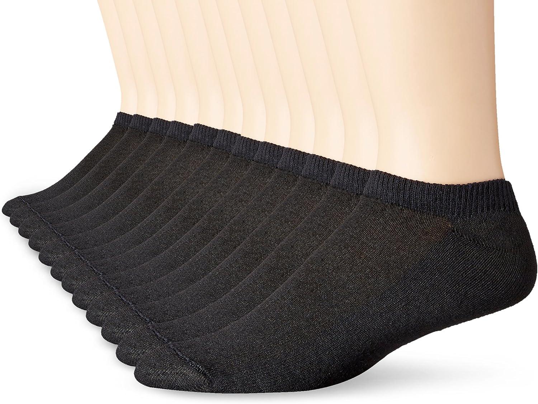Hanes Men's FreshIQ No-Show Socks, 12 Pack, White, Shoe Size: 6-12 at  Men's Clothing store