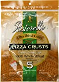 Pastorelli Ultra Thin and Crispy Pizza Crusts 100% Whole Wheat, 5 Count (Pack of 10)