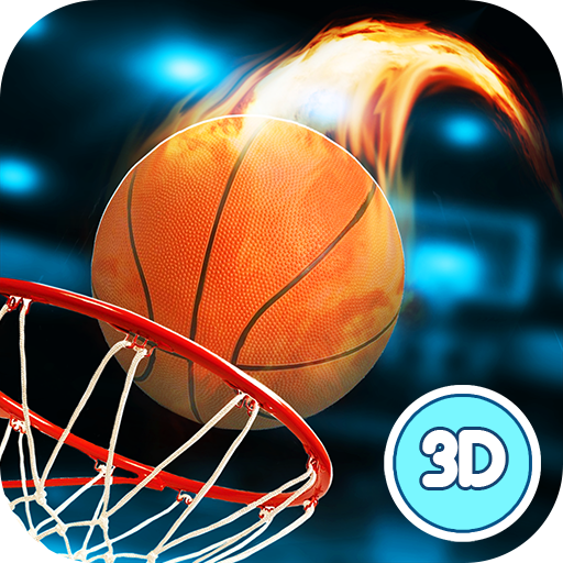 Basketball Dunk Throwing Contest - Fire Marked Hoops - Basketball Slam Dunk Contest