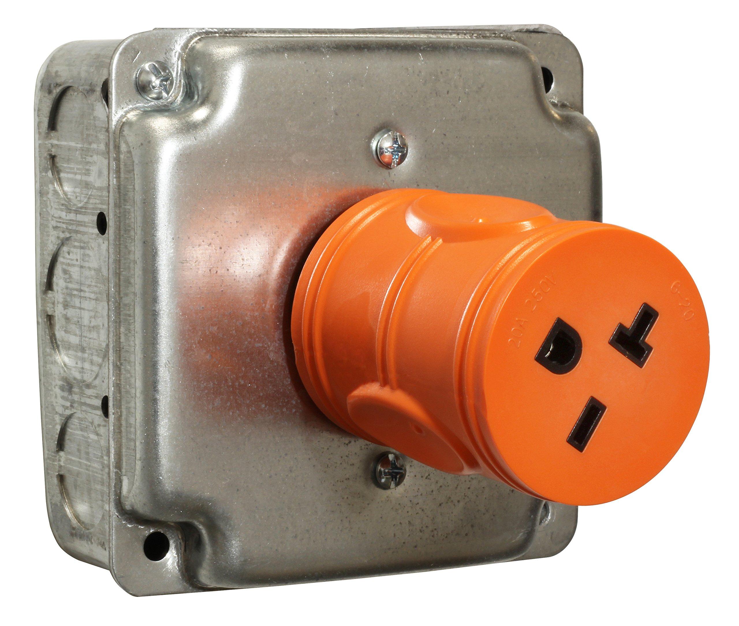 AC WORKS [ADL620620] NEMA L6-20P 20Amp 250Volt Locking Plug to NEMA 6-15/20R 15/20Amp 250Volt Female Connector Adapter by AC WORKS (Image #5)
