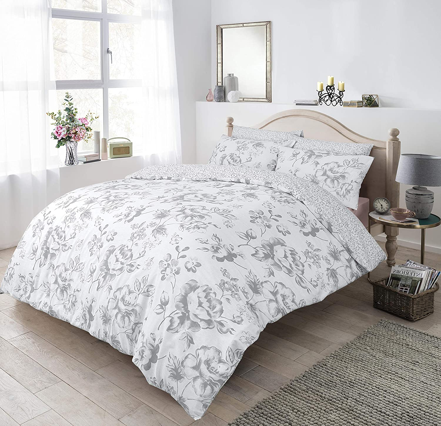 Luxury Sleep Down Blossom Duvet Cover Set Pillow Case Single Size Bedding