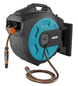 GARDENA Retractable Hose Reel 115-Feet With Convenient Hose Guide