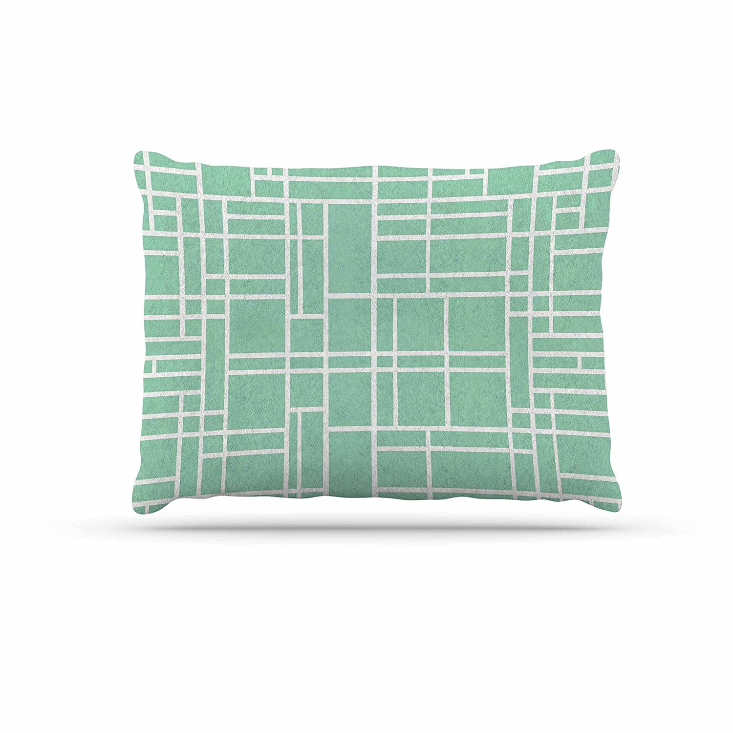KESS InHouse Project M Map Outline Mint Geometric Lines Dog Bed, 30  x 40
