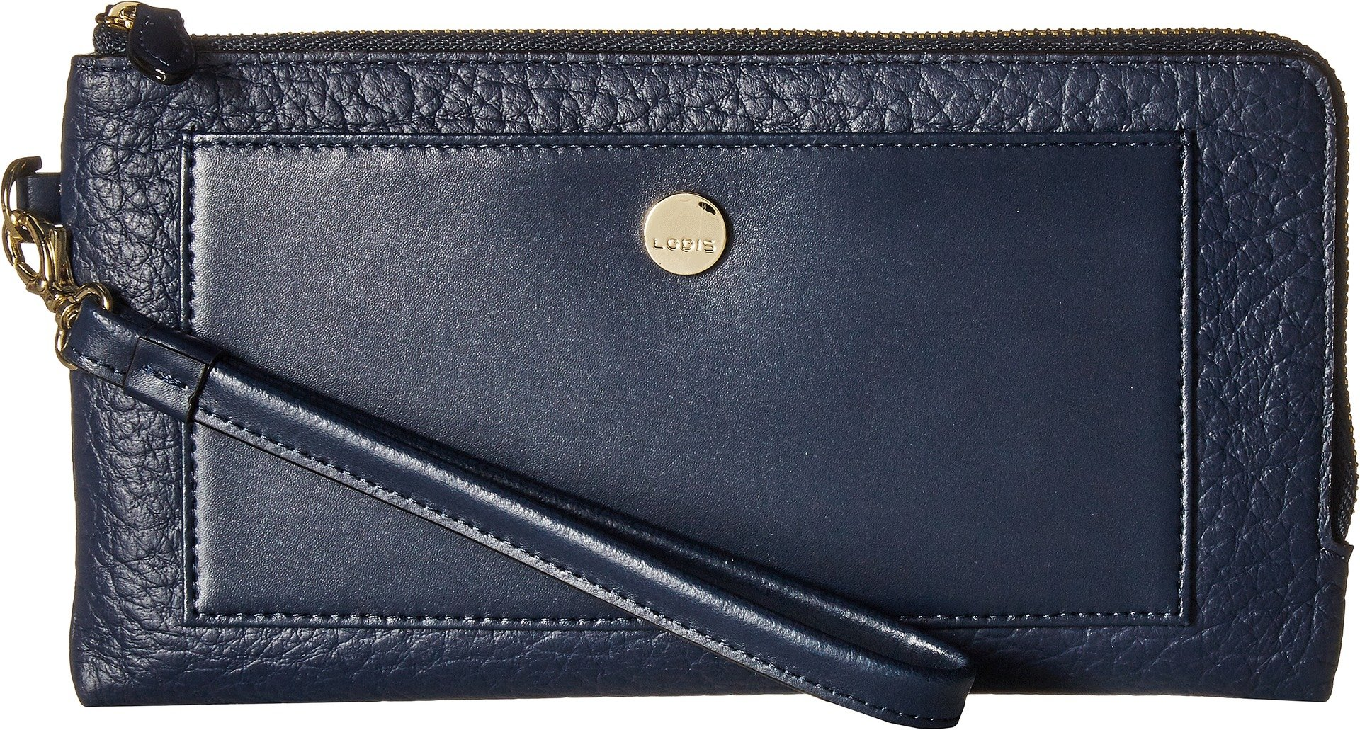 Lodis In The Mix RFID Rosalind Wristlet (Navy)