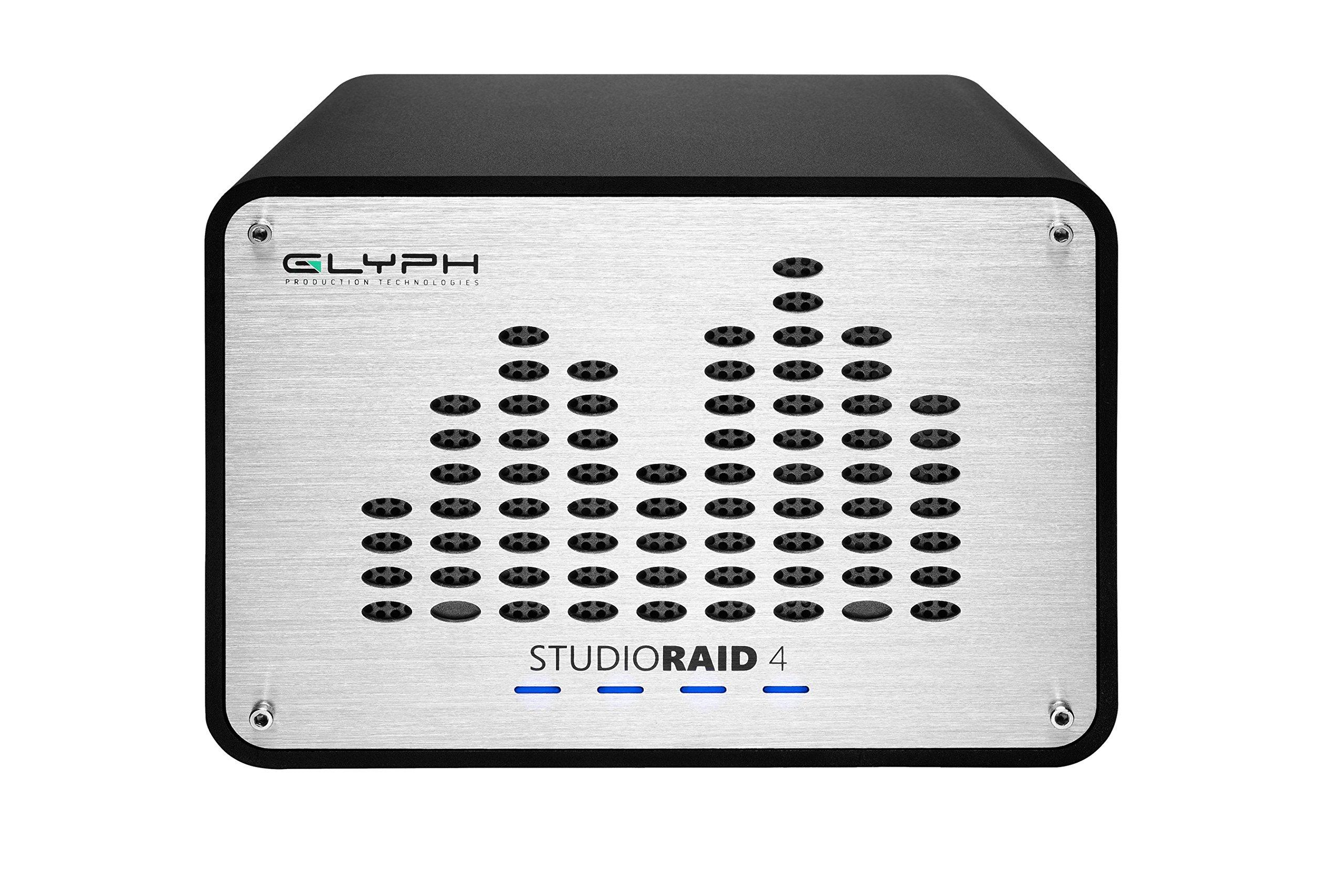 Glyph Studio RAID 4 SRF32000 32TB External Hard Drive RAID 0, 1 or JBOD (7200RPM, USB 3, FW800, eSATA)