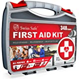 2-in-1 First Aid Kit (348-Piece) 'Double-Sided Hardcase' + Bonus 32-Piece Mini Kit: Perfect for Home & Workplace Safety [50 P