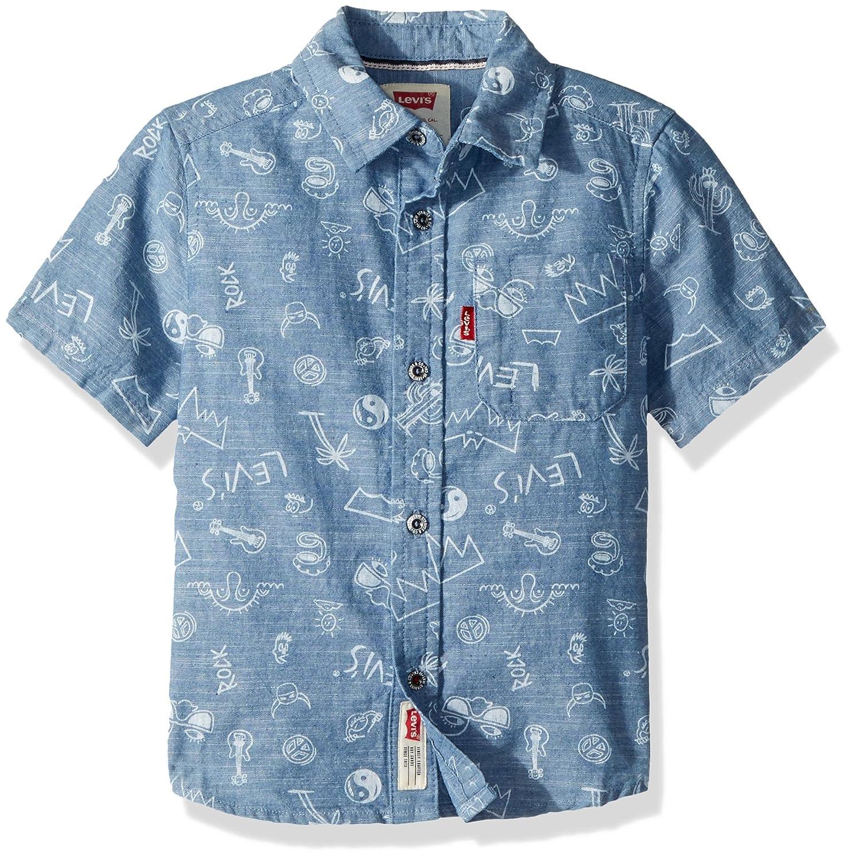 2904f81163 Amazon.com  Levi s Big Boys  Short-Sleeve Button up Shirt