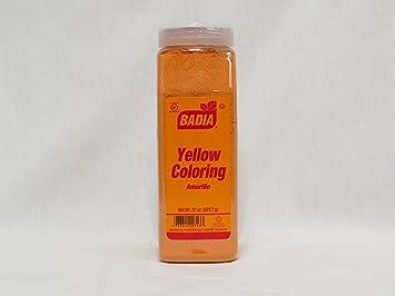 Amazon.com : Food Color Yellow (Powder) - 22 oz. Jar : Badia Yellow ...