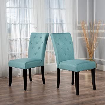 Stupendous Christopher Knight Home Nyomi Dining Chair Blue Alphanode Cool Chair Designs And Ideas Alphanodeonline