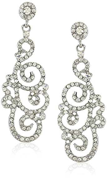 earrings dp womens drop bridal com chandelier long rhinestone jewelry amazon