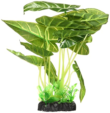 uxcell Planta de plástico decoración de pecera