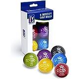PGA Tour Men's Motif Keep Calm balles de Golf fantaisie (Lot de 6)-Blanc