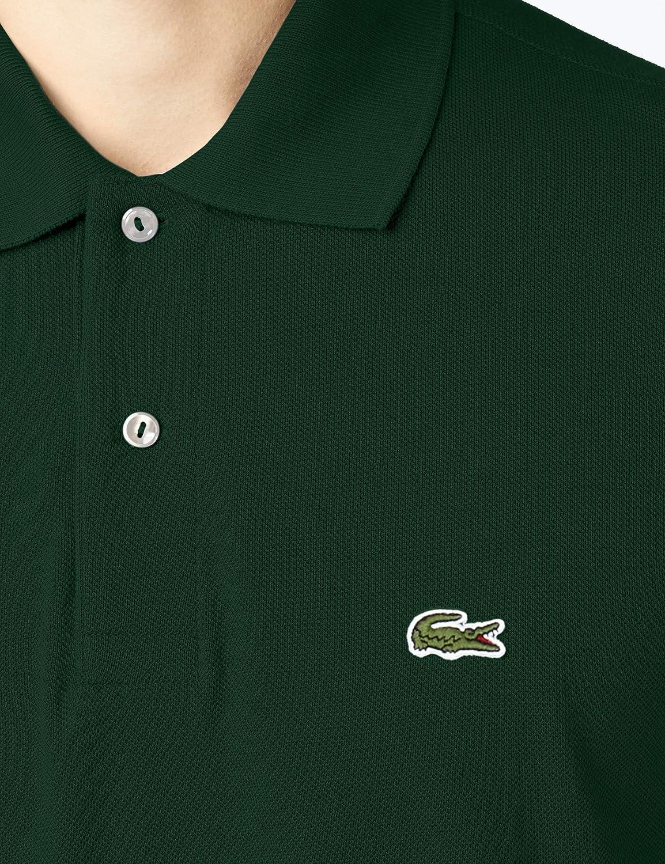 a3f3524298f73 Lacoste Men s Short Sleeve Pique L.12.12 Classic Fit Polo Shirt ...