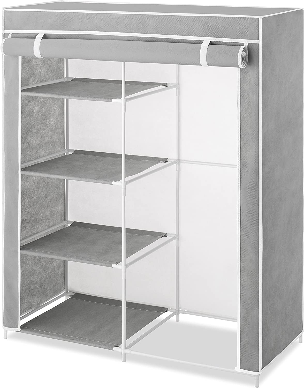 Whitmor Compact Clothes Closet, Grey