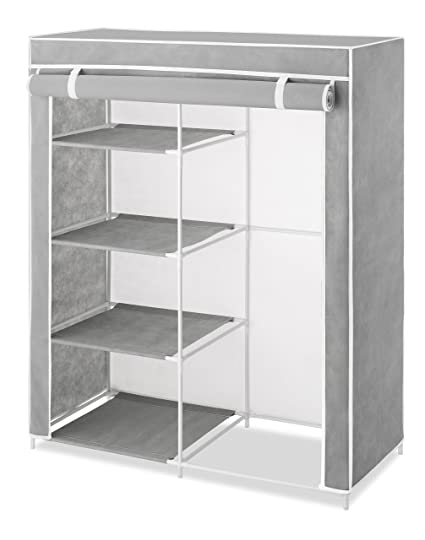 Amazing Whitmor Compact Covered Clothes Closet