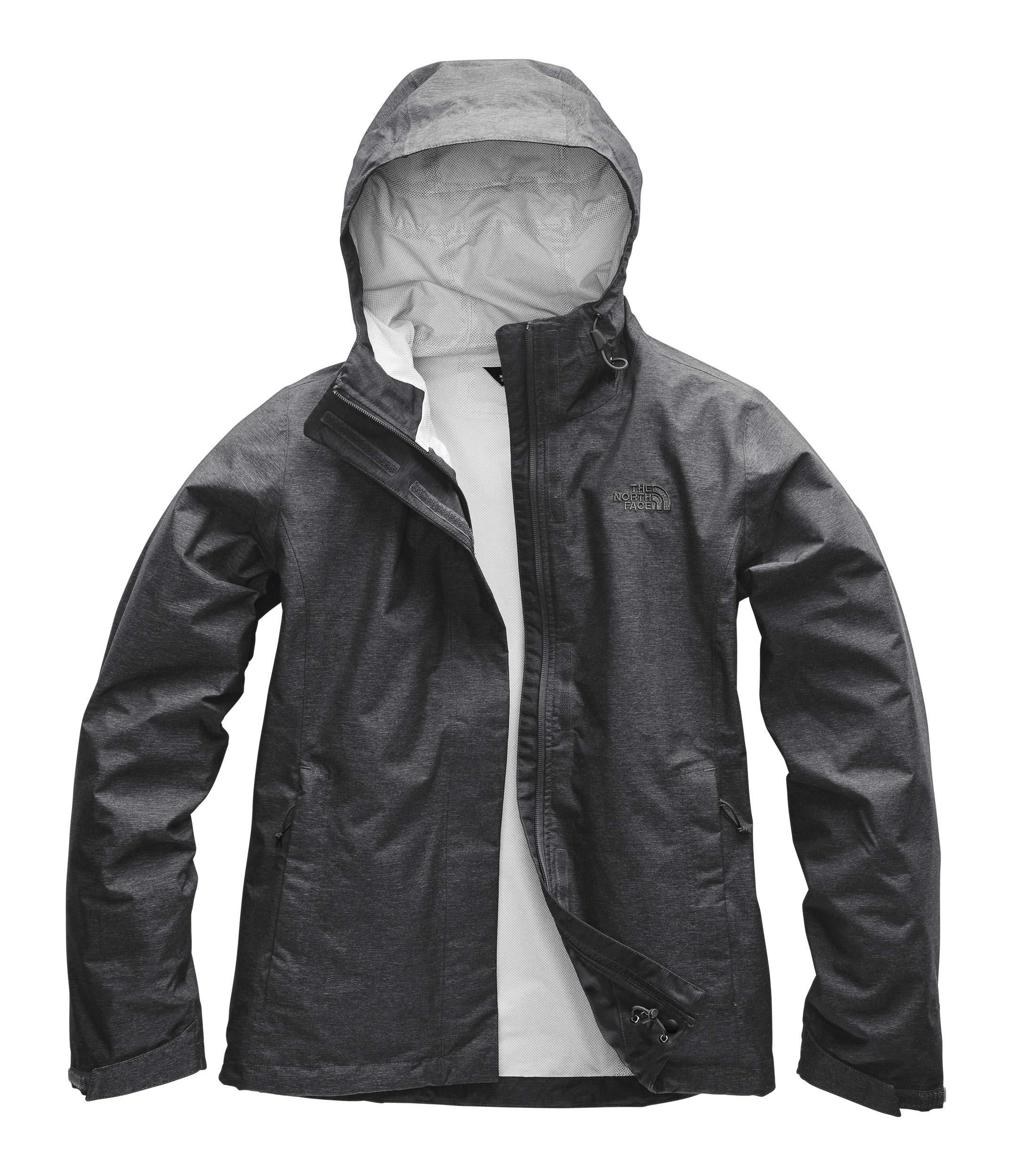 The North Face Women's Venture 2 Jacket, TNF Dark Grey Heather/Asphalt Grey, Size M