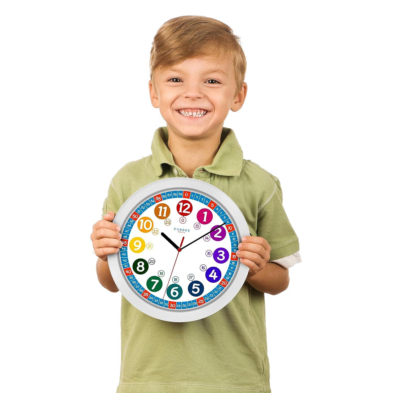 30e400459ba1 ONETIME Reloj de Pared Infantil  (diámetro de ) una Vez 30