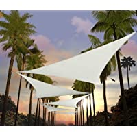 Amgo 16' x 16' x 22.6' White Sun Shade Sail Right Triangle Canopy Awning Shelter Fabric Screen - UV Block UV Resistant…