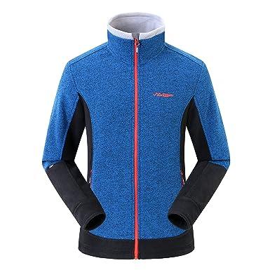 Amazon.com: Summit Glory Men's Full-Zip Polar Fleece Jacket With ...