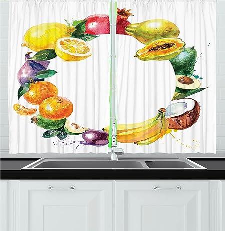 Fruit Kitchen Curtains Unique Decorating