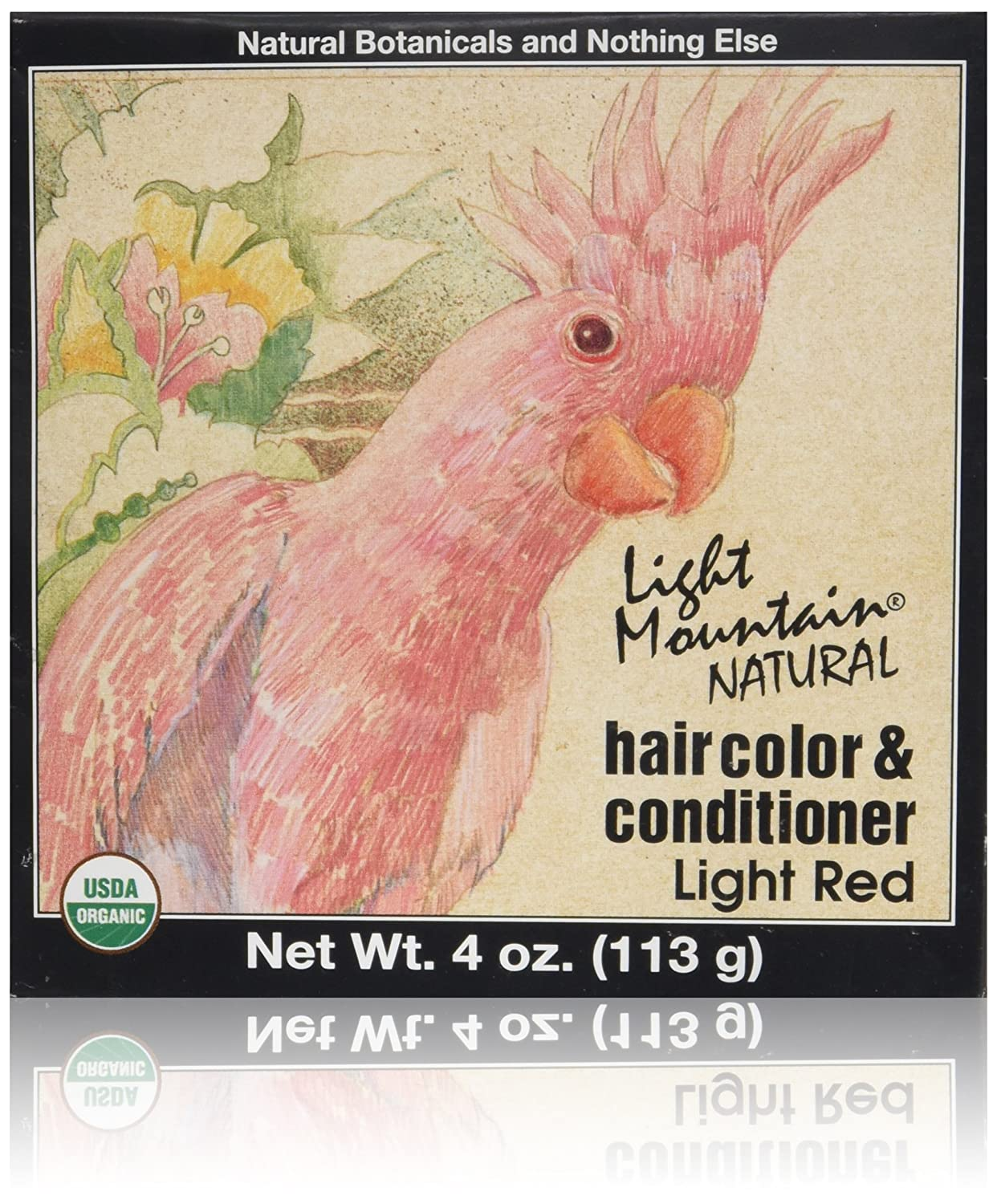 Light Mountain Natural Hair Color and Conditioner Light Red - 4 fl oz