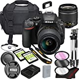 Nikon D5600 DSLR Camera Bundle with 18-55mm VR Lens | Built-in Wi-Fi|24.2 MP CMOS Sensor | |EXPEED 4 Image Processor and…