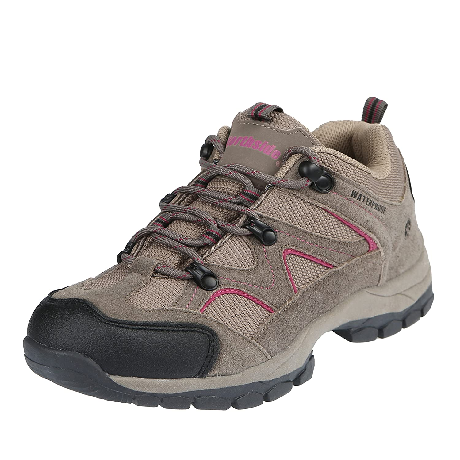 Northside Women's Snohomish Low Waterproof Hiking Shoe B00MGQW1NK 8.5 B(M) US|Stone/Berry