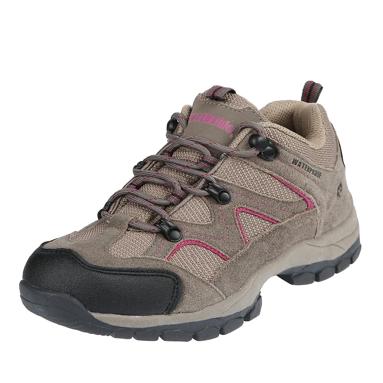 Northside Women's Snohomish Low Waterproof Hiking Shoe B00MGQWAUY 6.5 B(M) US|Stone/Berry
