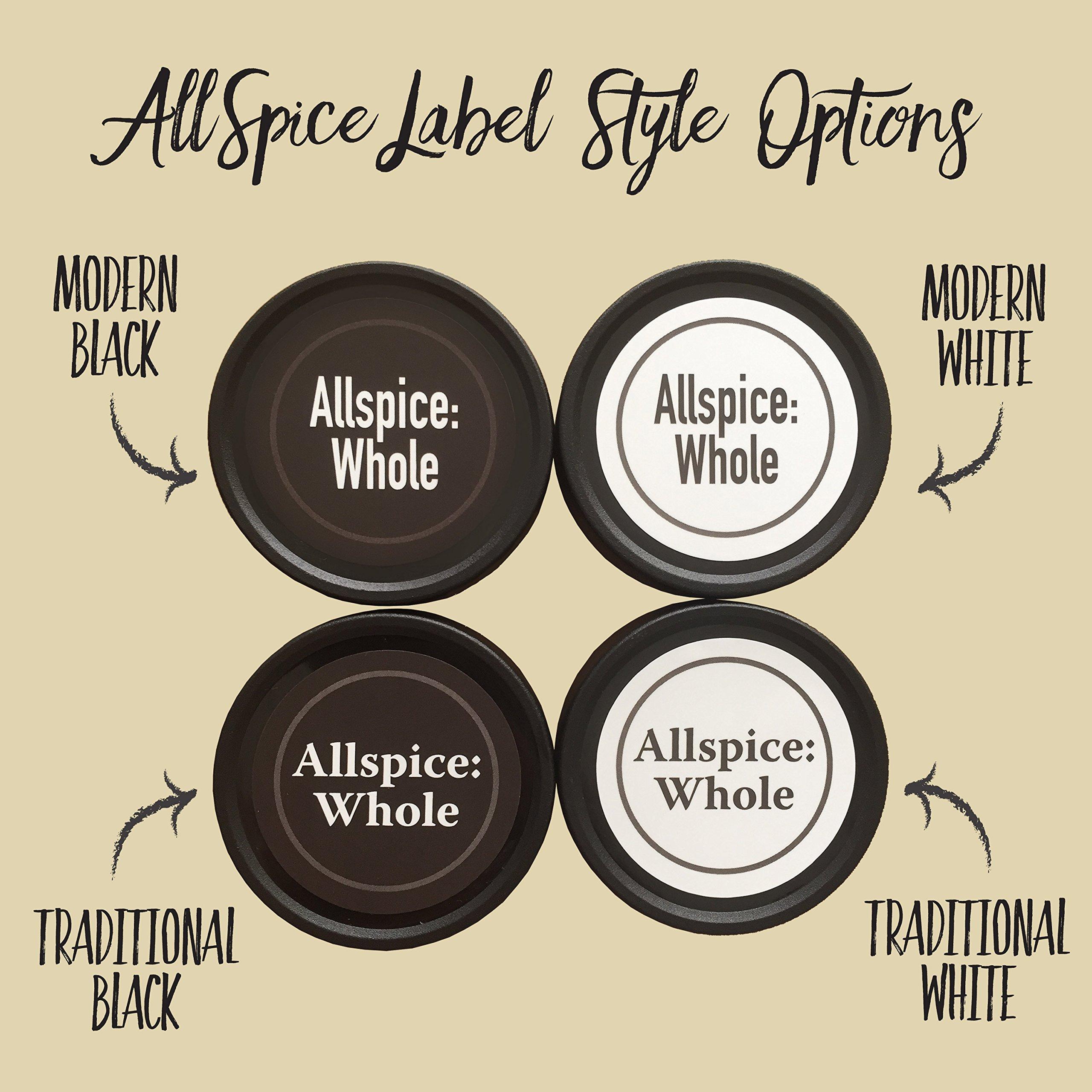 AllSpice 315 Preprinted Water Resistant Round Spice Jar