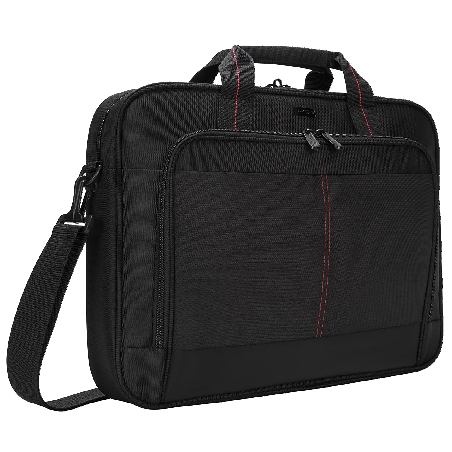 fc805557055 Amazon.com: Targus Classic Clamshell Case for 16-Inch Laptops, Black with  Red Accents (CN31US): Electronics