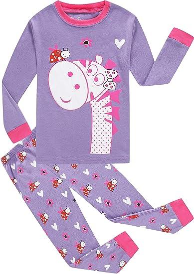 shelry girls pajamas toddler girls long zebra kids pajamas sleepwear pj size 2