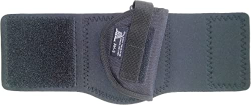 DTOM AH3 Neoprene and Nylon Ankle Holster for Ruger LCP, S&W Bodyguard 380, Walther PPK/PPK-S, Beretta 3032, and More - AH3