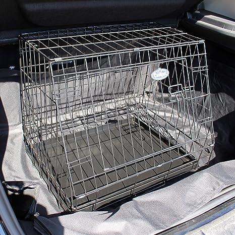 Pequeña jaula de viaje para coche, ideal para mascotas, cachorros ...
