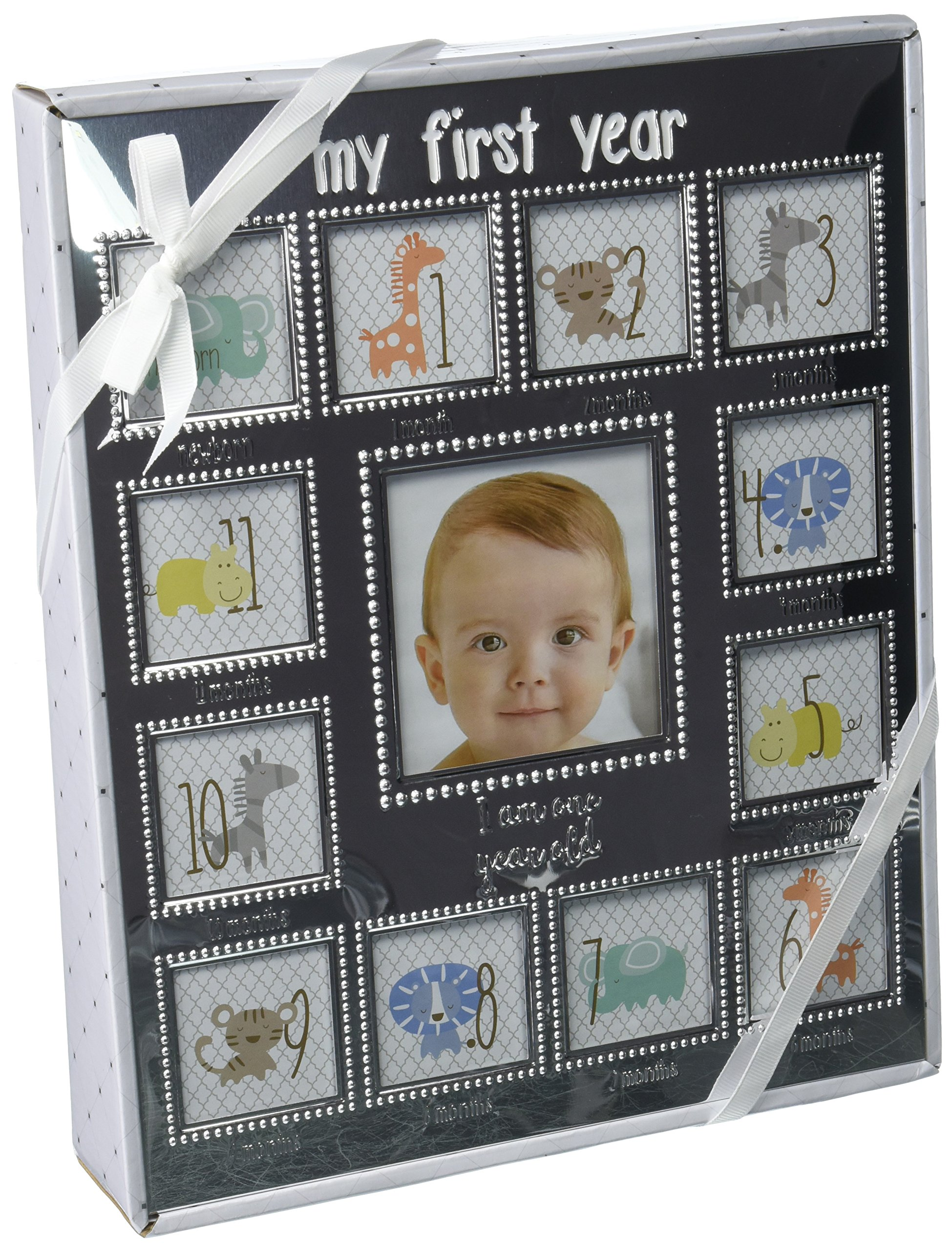 Baby Starters My First Year Picture Frame, Silver