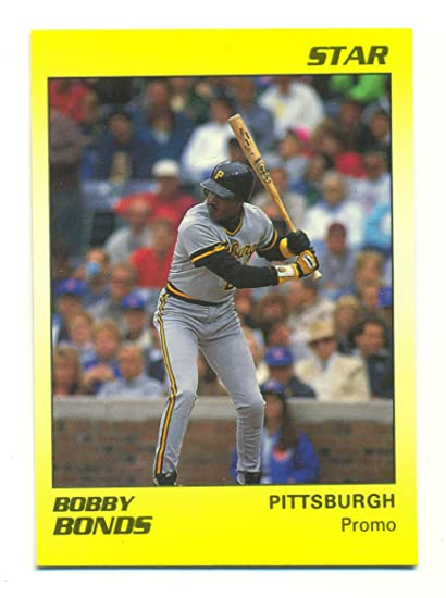 1990 Star Barry Bonds Promo Error Card Card Labels Bobby