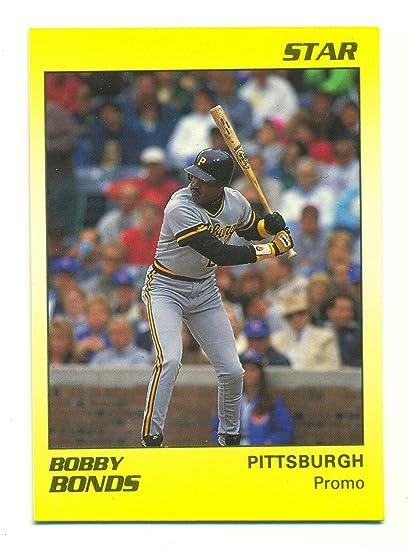 1990 Star Barry Bonds Promo Error Card Card Labels Bobby Bonds