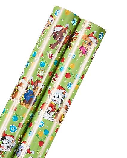 Amazon american greetings paw patrol christmas wrapping paper american greetings paw patrol christmas wrapping paper 2 roll m4hsunfo