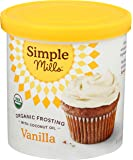 Simple Mills Organic Vanilla Frosting with Coconut Oil, Birthday Cake Frosting, Made with whole foods, (Packaging May…