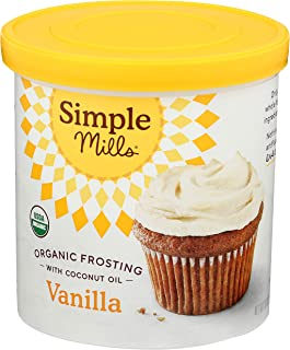 product image for Simple Mills Organic Vanilla Frosting with Coconut Oil, Birthday Cake Frosting, Made with whole foods, (Packaging May Vary)