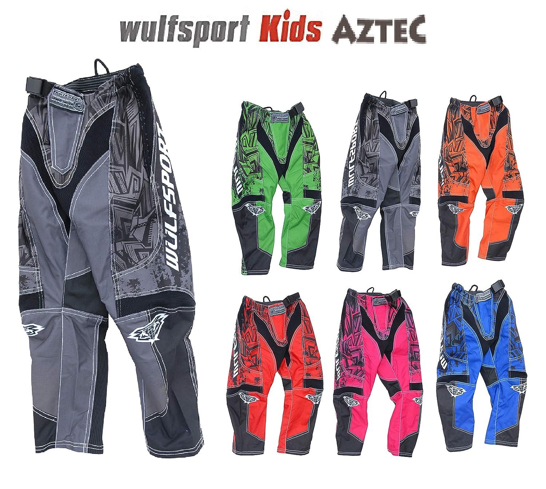 2017 NEW Wulfsport Attack CUB JUNIOR KIDS Motocross Pants Motorbike Quad Trousers Black,Waist 22