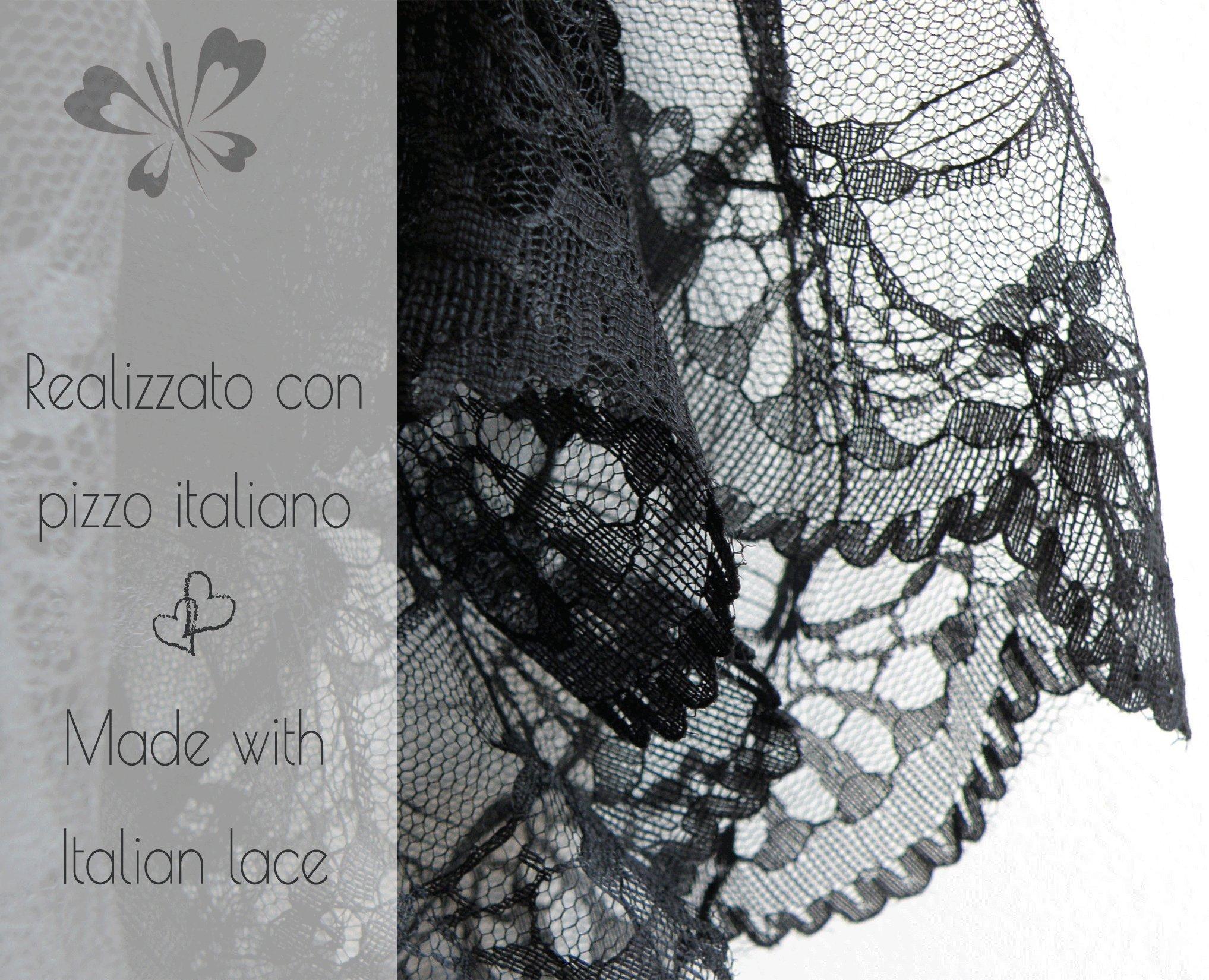 Mamma Mia Fashion PA0854 Reggiseno Allattamento maternit/à e Premaman Made in Italy in Morbido Cotone Anallergico Brassiere Schiena Vogatore in Pizzo Senza Ganci e Coppe Preformate Senza Ferretto