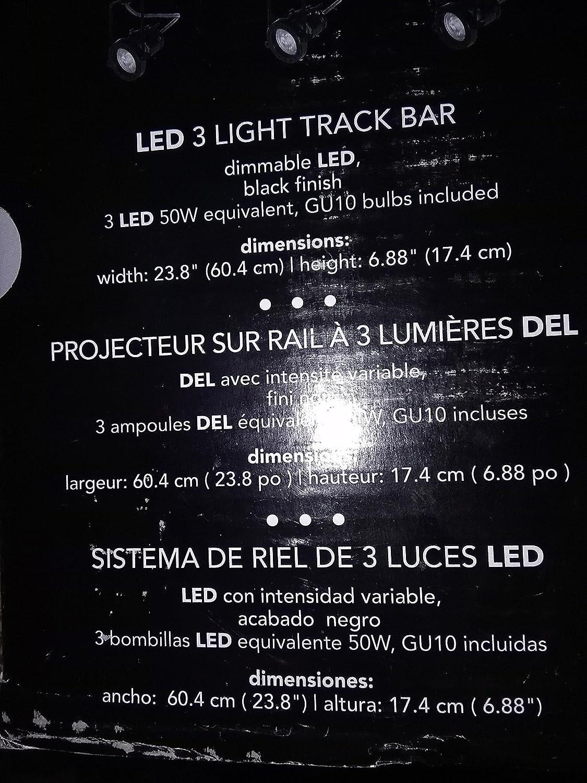 Globe Electric Desmond Collection LED 3-Light Black Track - - Amazon.com