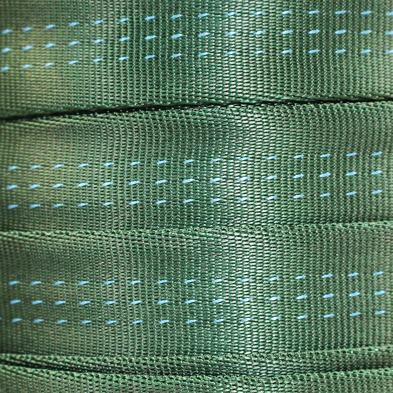Climbing 1 in Nylon Webbing for Climbers Rock Work /& Firefighting BlueWater Tubular Webbing 1 inch Heavy Duty Strap for Rescue 1 Yard - 100 Yards Harnesses Tube // Tubular Climbing Webbing