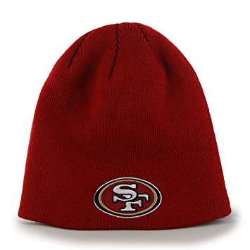 super cute 8a999 e975f NFL San Francisco 49ers  47 Beanie Knit Hat, Red, One Size