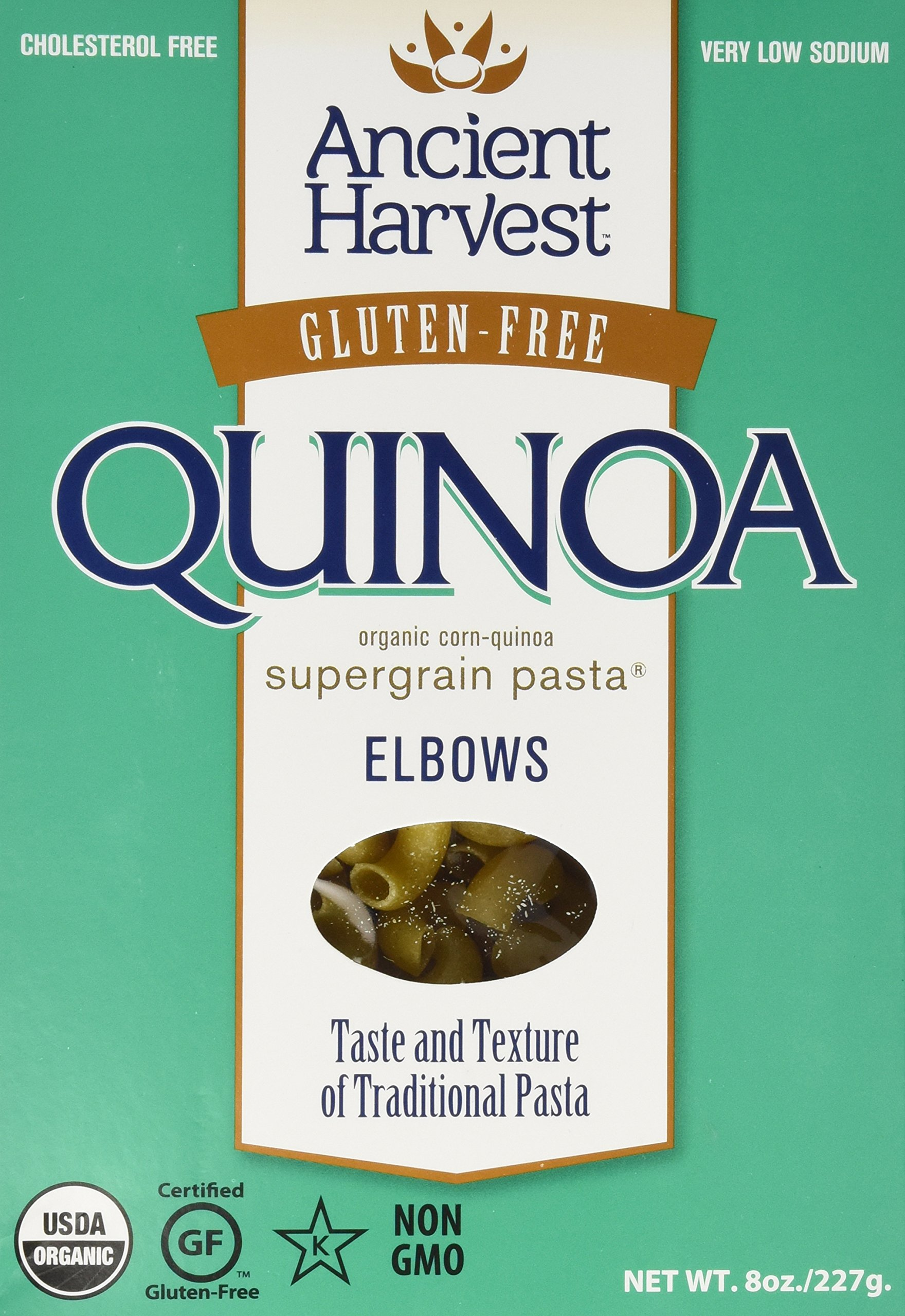 Ancient Harvest Quinoa Organic Elbow Pasta, Gluten-Free, 8 oz