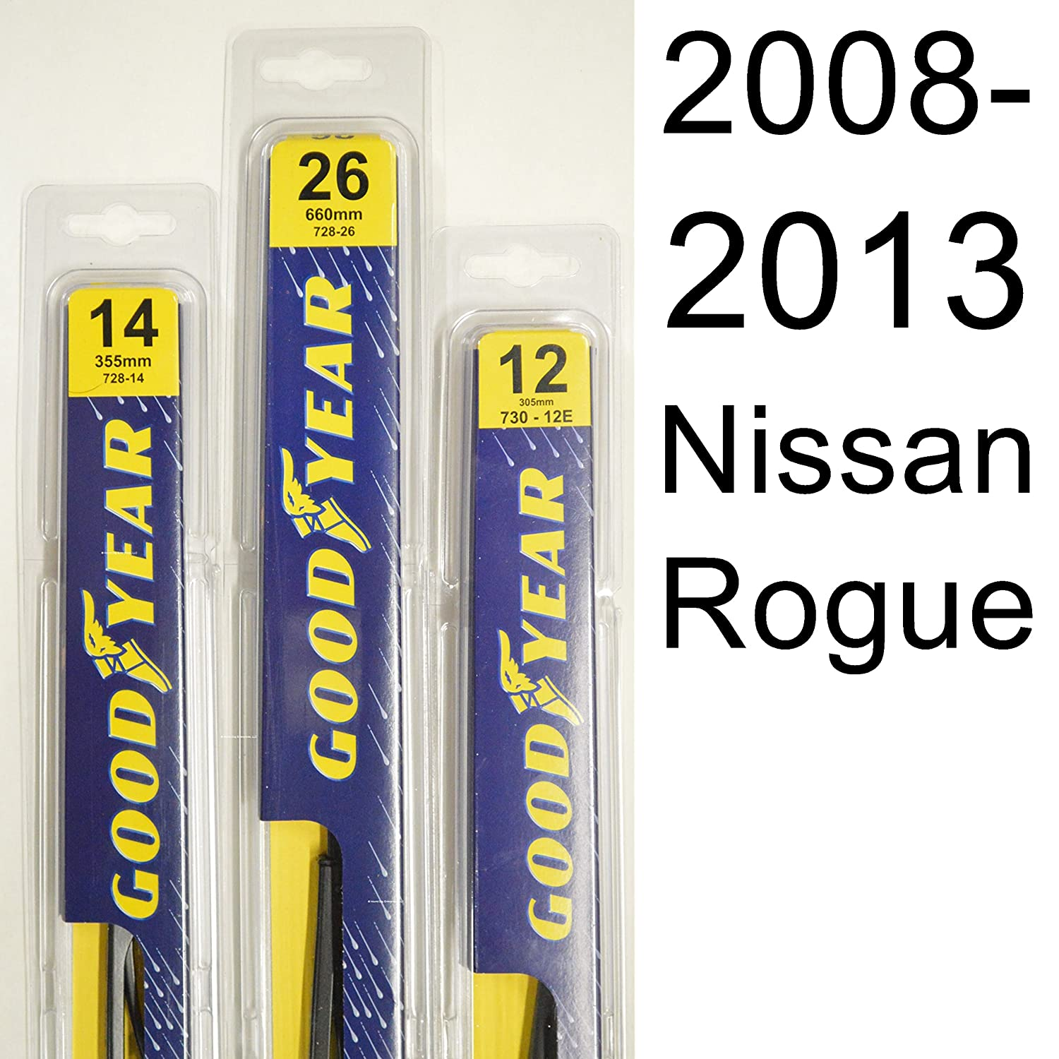 Amazon Nissan Rogue 2008 2013 Wiper Blade Kit Set Includes
