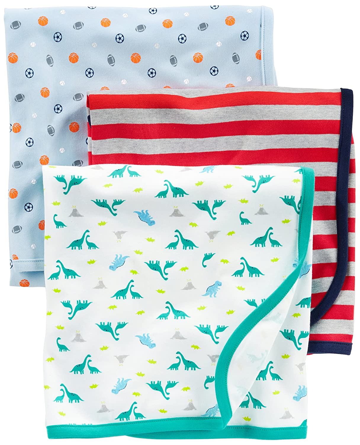 Simple Joys by Carters Baby Boys 3-Pack Cotton Swaddle Blankets