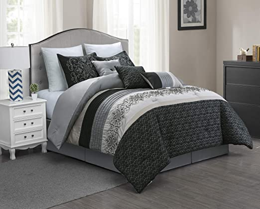Microfiber 7-Piece Full Comforter Set Bed In A Bag Home Bedding All Season